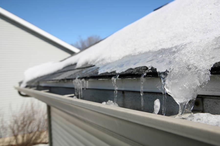 Ice on Roof in Ypsilanti Michigan
