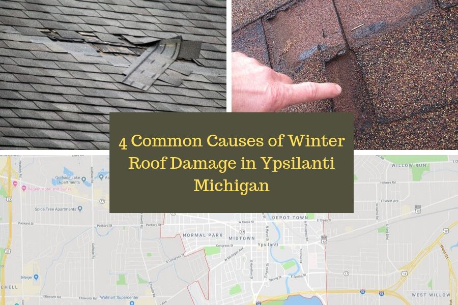 4 Common Causes of Winter Roof Damage in Ypsilanti Michigan